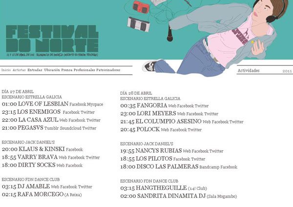 Horario FdN 2012