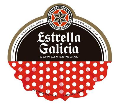 Etiqueta frontal Estrella Galicia Ferias