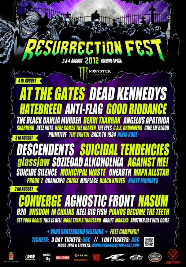 Cartel del Resurrection Fest 2012