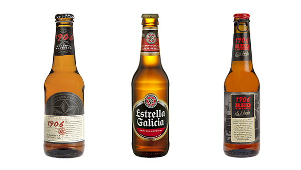 beer 1906 RED Vintage. La Colorada Estrella Galicia