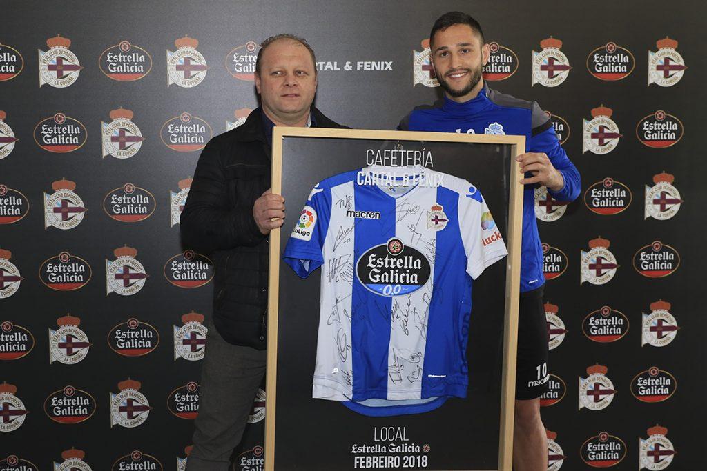 Florin Andone - Jugador Estrella Galicia Depor - febrero