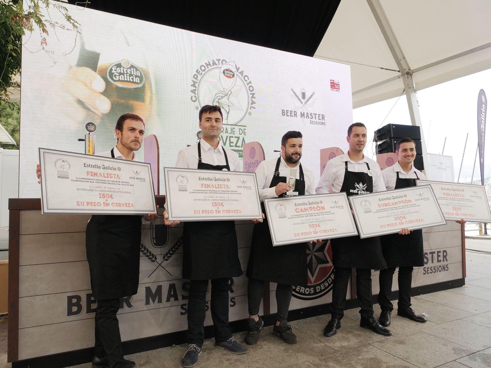 5 Finalistas - Campeonato de Tiraje de Cerveza Estrella Galicia Certamen Galicia Sur